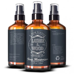 lather and wood face moisturizer